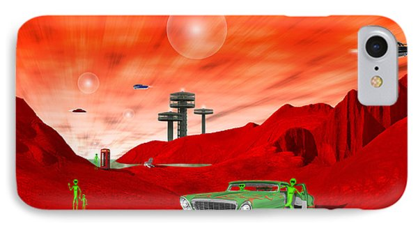 Just Another Day On The Red Planet 2 IPhone Case by Mike McGlothlen