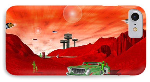 Just Another Day On The Red Planet Panoramic IPhone Case by Mike McGlothlen