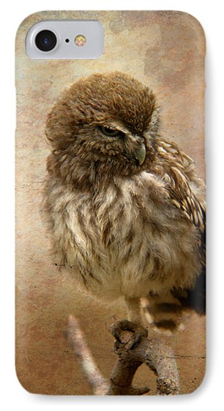Just Awake Little Owl IPhone Case by Perry Van Munster