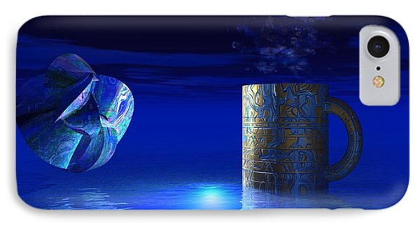 IPhone Case featuring the digital art Just Blue by Jacqueline Lloyd