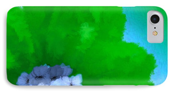 Just Give Me A Reason Blue Green Blue IPhone Case by Holley Jacobs