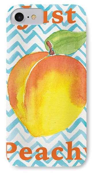 Just Peachy Painting IPhone Case by Christy Beckwith