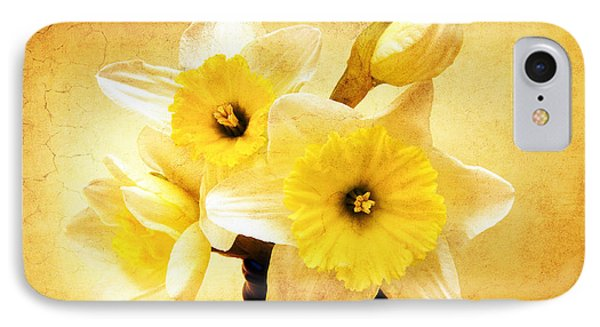 Just Plain Daffy 1 - Flora - Spring - Daffodil - Narcissus - Jonquil Phone Case by Andee Design