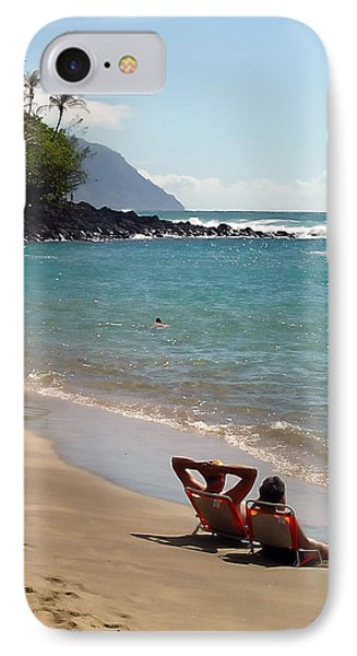 Just Relaxin' IPhone Case by John Bushnell
