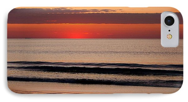 IPhone Case featuring the photograph Just Showing Up Along Hampton Beach by Eunice Miller