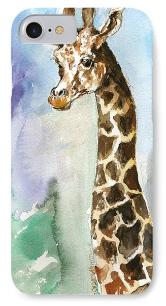 IPhone Case featuring the painting Just So Tall by Mary Armstrong