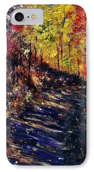 IPhone Case featuring the painting Just The Sound Of The Forest... by Cristina Mihailescu