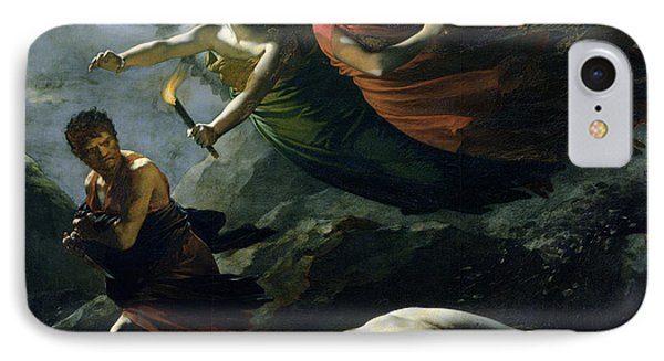 Justice And Divine Vengeance Pursuing Crime IPhone Case by Pierre-Paul Prud'hon