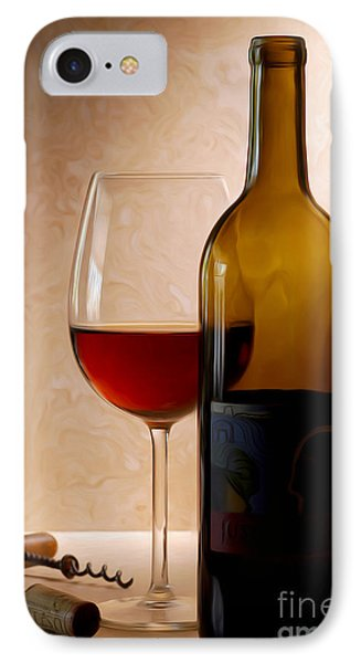 Justin Wine Painting IPhone Case