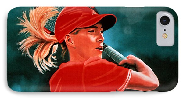 Justine Henin  IPhone 7 Case by Paul Meijering