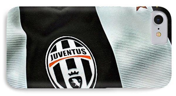 Juventus Poster Art IPhone Case by Florian Rodarte