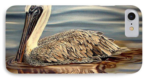 IPhone Case featuring the painting Juvenile Pelican by Phyllis Beiser