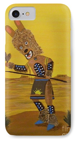 Kachina Brown Bear Dancer IPhone Case