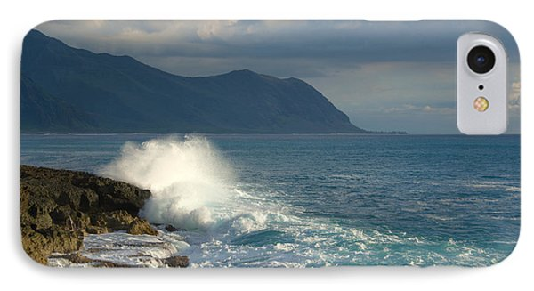 Kaena Point State Park Crashing Wave - Oahu Hawaii Phone Case by Brian Harig