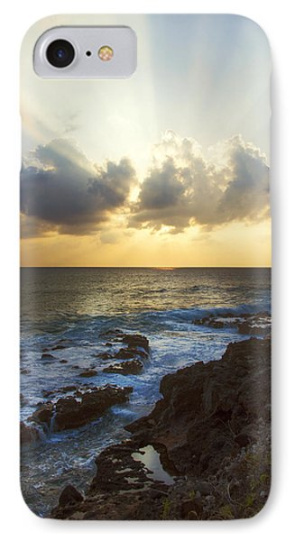 Kaena Point State Park Sunset 3 - Oahu Hawaii IPhone Case by Brian Harig