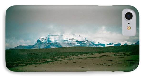 Kailas Mountain Home Of The Lord Shiva View From Manasarovar IPhone Case