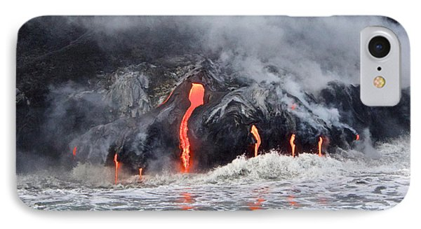 Lava Falls At Kalapana IPhone Case by Venetia Featherstone-Witty