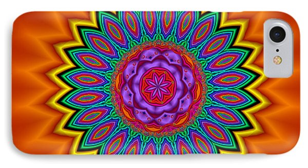 Kaleidoscope 1 Bright And Breezy Phone Case by Faye Symons