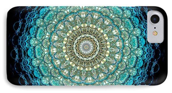 Kaleidoscope Aquamarine Bubbles Phone Case by Amy Cicconi