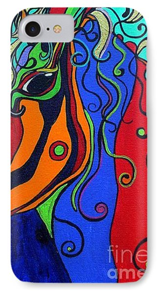 IPhone Case featuring the painting Kaleidoscope Eyes by Alison Caltrider
