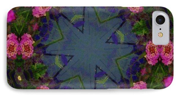 Kaleidoscope Lantana Wreath Phone Case by Cathy Lindsey