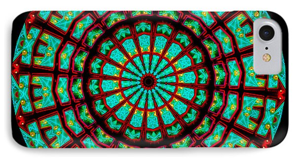 Kaleidoscope Of A Neon Sign Phone Case by Amy Cicconi