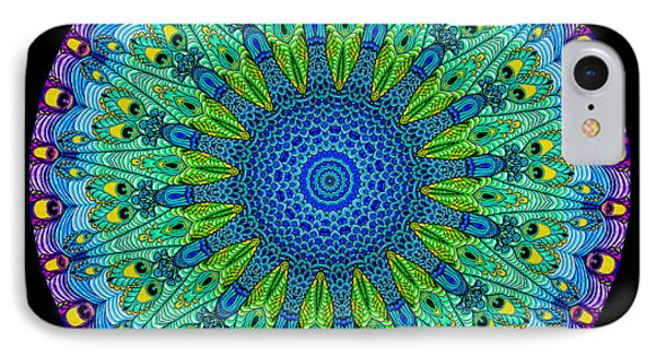 Kaleidoscope Peacock Phone Case by Amy Cicconi