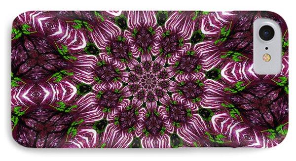 Kaleidoscope Raddichio Lettuce Phone Case by Amy Cicconi
