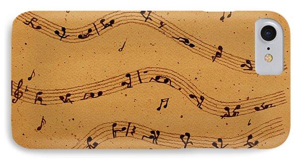 Kamasutra Music Coffee Painting IPhone Case