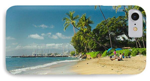 Kamehameha Iki Park Beach Lahaina Maui Hawaii  IPhone Case by Sharon Mau