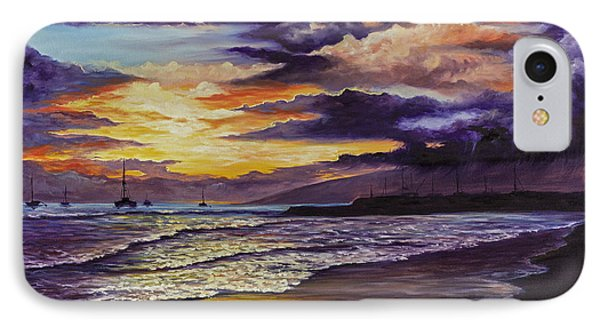 IPhone Case featuring the painting Kamehameha Iki Park Sunset by Darice Machel McGuire