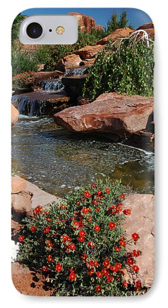217p Kanab Ut Water Feature IPhone Case by NightVisions
