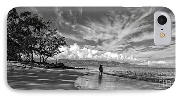 Kanahna Beach Maui Hawaii Panoramic IPhone Case by Edward Fielding
