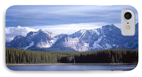 IPhone Case featuring the photograph Kananaskis Mountains Lake by Jim Sauchyn