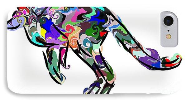 Kangaroo 2 IPhone Case by Chris Butler