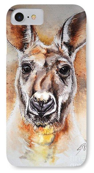 Kangaroo Big Red Phone Case by Sandra Phryce-Jones
