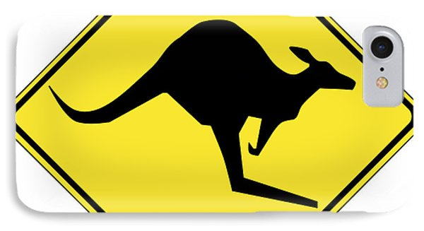 Kangaroo Crossing Sign IPhone Case by Marvin Blaine