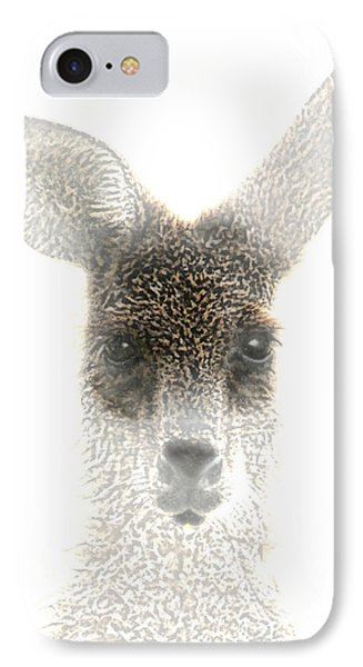 Kangaroo IPhone Case by Holly Kempe