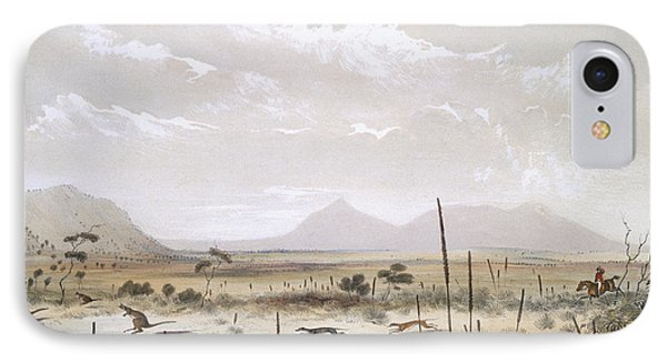Kangaroo Hunting Near Port Lincoln Phone Case by George French Angas