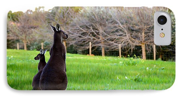 Kangaroos IPhone Case by Phill Petrovic
