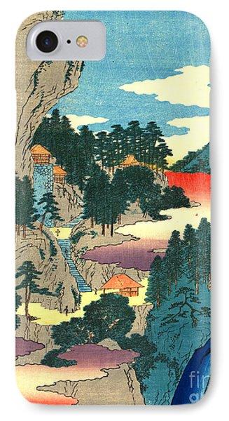 Kannon Temple Tajima Province 1854 Phone Case by Padre Art