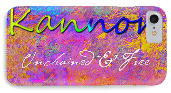 Kannon - Unchained And Free Phone Case by Christopher Gaston