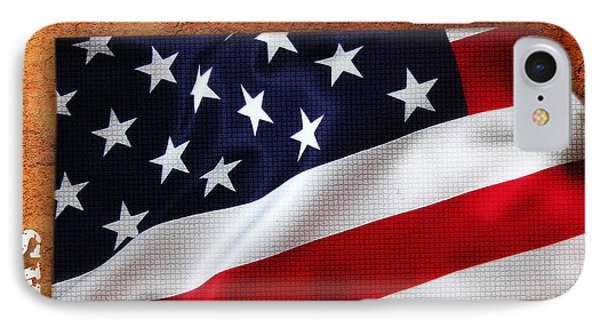 Kansas American Flag State Map IPhone Case by Marvin Blaine