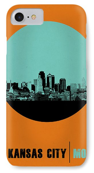 Kansas City Circle Poster 1 IPhone Case by Naxart Studio