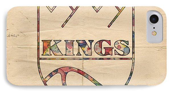 Kansas City Kings Retro Poster IPhone Case by Florian Rodarte