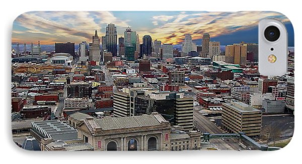 Kansas City Skyline IPhone Case by Anthony Dezenzio