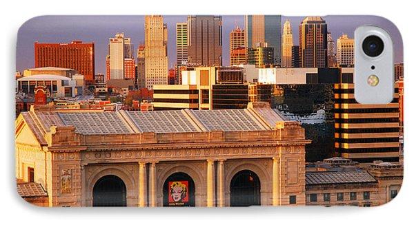 Kansas City Skyline IPhone Case by James Kirkikis