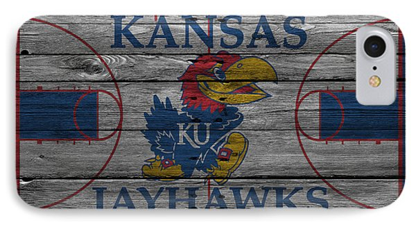 Kansas Jayhawks IPhone 7 Case by Joe Hamilton