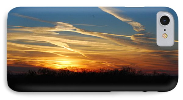 Kansas November Sunset IPhone Case