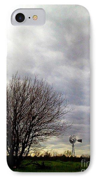 Kansas Prairie Windmill IPhone Case